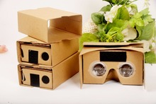 500X DIY Google Cardboard VR 3D VR Glasses Virtual Reality Goggles paper box for mobilephone