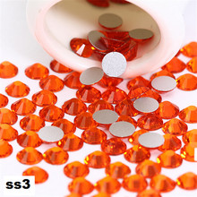 ss3 1440pcs/pack Flat Back Best Crystal Sun ( 3d Nail Art decorations ) Non Hot Fix Glue on rhinestones for nails diy