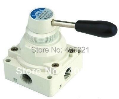 4HV410-20, 4 way 2 position Manual Hand lever Pneumatic Valve 3/4 BSPT Hand Return<br>