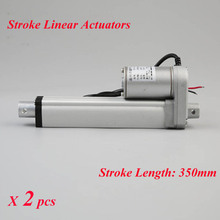 12V DC Motor 350mm Stroke Linear Actuators 1500N/150KG 330lbs Max Lift Load Linear Motor for Electric Bed Waterproof