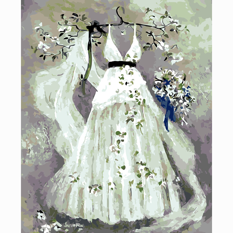 Online buy wholesale wedding dress drawings from china for Painted on wedding dress