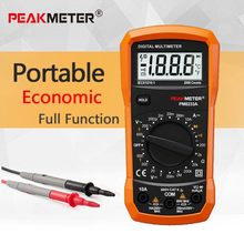 PEAKMETER Best low price China LCD display AC DC 2000 counts Digital Multimeter PM8233A with continuity diode test