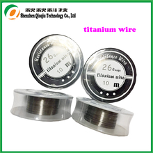 Free shipping China Factory High-quality products titanium 26ga/0.4mm 10m/roll Titanium Wire