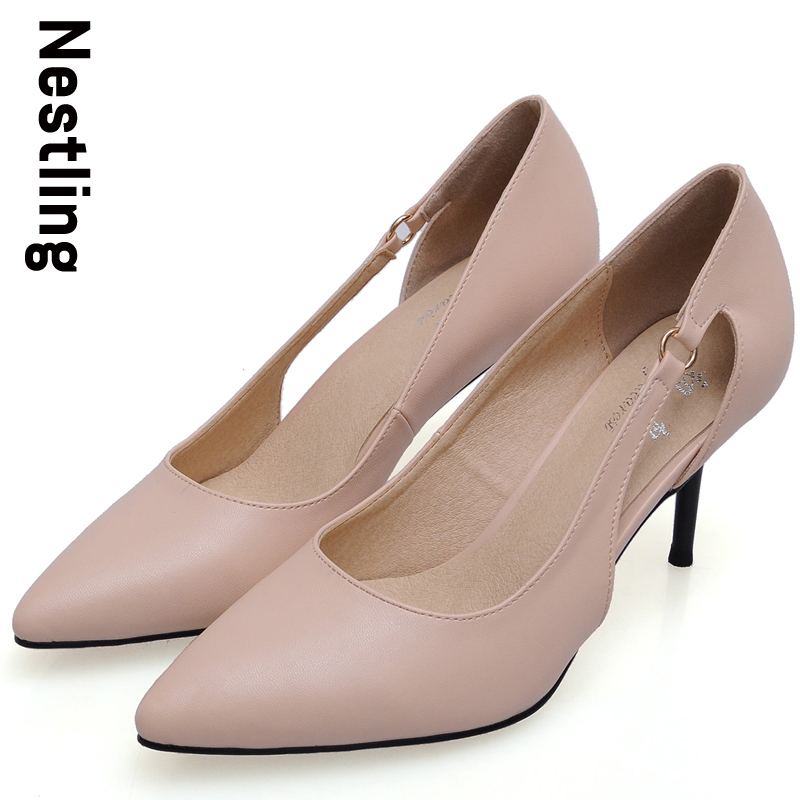 New 2017 Spring Summer Fashion Women Party Pumps Sexy Pointed Toe Cut-Outs Ladies Thin High Heels Wedding Shoes Woman D35<br><br>Aliexpress