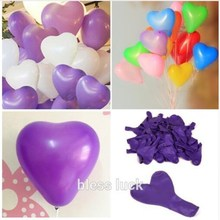 10pcs/lot Romantic Heart Shaped Love Latex balloons New Year Helium Balloons Wedding Party Valentines Day Inflatable Balls(China)