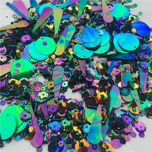 30g Hugely Popular Multi Size Mix Flat Cup Round Oval pvc loose sequins Glass Beads Bugles Sewing Craft Kids intelligence Gifts