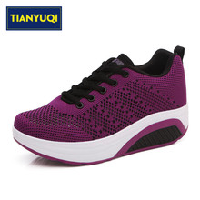 TIANYUQI Women's Sport Platform Walking Shoes Height Increasing Mocassin Femme Classic Style Sapatenis Zapatos Sperry(China)