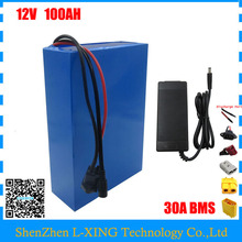 High quality 350W 12V 100AH battery 12 V 100AH Lithium ion battery for 12V 3S Li ion Battery with 5A charger EU US no tax(China)