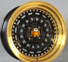 High Performance Gold Vacuum Chrome 15x8.0 15x9.0 4x100 Car Aluminum Alloy Wheel Rims(China)