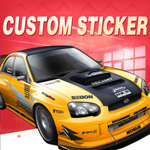 ETIE Custom Sticker Factory Direct Car Decal Wrap Accessories Motor Parts Modified Logo Emblem Auto Adhesive Vinyl Pegatinas(China)