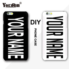 YOKIRIN DIY Custom Name Logo Photo Cover Case For iPhone 5 5S SE 7 8 6 6S Plus For Samsung Galaxy S5 S7 S6 Edge Custom Hard Case(China)