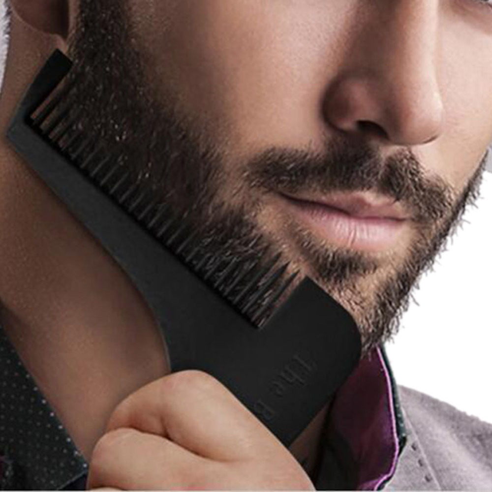 Men's beard styling, templates, carding tools, mustache brushes, combs