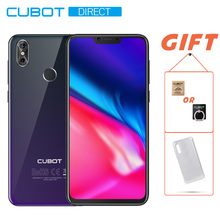 "Cubot P20 4 Гб + 64 ГБ Android 8,0 19:9 6,18 ""1080*2246 FHD + Notch экран телефоны Двойная камера 20MP + 2.0MP MT6750T Octa-Core 4000 мАч(China)"