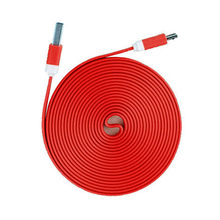 charger 10 FT  RED FLAT USB Data Sync Charger Cable Cord for iPhone 5/5S/5C iPhone 6 6 Plus iOS8  iPod Touch 5 [PS] FC
