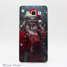 4181CA Zombie Claus Transparent Hard Cover Case for Galaxy A3 A5 A7 A8 Note 2 3 4 5 J5 J7 Grand 2 & Prime