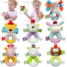 Newborn Cute Baby Boy Girl Rattles Infant Animal Hand Bell Kids Plush Toy Educational Bells Cloth For Baby 0-12 month CX894323(China)