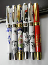 1 Pcs Ceramic Blue and White porcelain Chinese Painting  Metal Rollerball Pen
