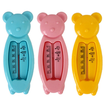 Hot Floating Lovely Bear Baby Water Thermometer Float Baby Bath Toy Thermometer Tub Water Sensor Thermometer(China)