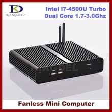 Thin Client Mini PC, Nettop, Intel i7-4500U Turbo Boost 3.0Ghz CPU 4GB RAM, 64GB SSD+640GB HDD, 4K DP:4096*2160, HDMI, WiFi