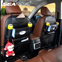 Car Storage Bag Seat Back Bag Organizer Multi-pocket Auto Back Seat Cover Holder Leather Universal Protector on Car Accessories