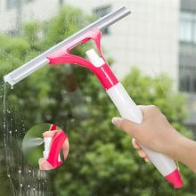 Multifunctional Bathroom Mirror Squeegee Glass Wiper Cleaner Rubber Blades With Spray Bottle For Outdoor Indoor Car Windows