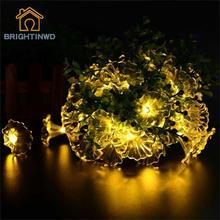 Waterproof 6M 30 LED Morning Glory Flower Solar Fairy String Lights for Outdoor Garden Home Wedding Christmas Party and Holiday