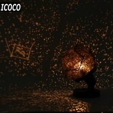 ICOCO 1 set Home Decor Romantic Astro Star Sky Projection Cosmos Night Lamp Starry Night Romantic Bedroom Decoration Gadgets