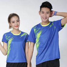 2017 Sportswear Gym Quick Dry breathable badminton shirt,Women/Men table tennis clothes team game training running T Shirts(China)