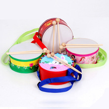 New style kids toys cute cartoon hand drums toys wooden drums toys kids tap toys kawaii kids musical instruments