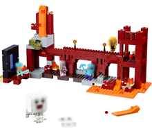 Bela my world The Nether Fortress model self-locking Building Block Classic Architecture toy for children compatible 21122 79147(China)