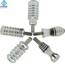 OPHIR Silver 5pcs Aluminum Tattoo Grips with Back Stems for Tattoo Machine Gun Tattoo Supply Body Art Accessories _TA061(China)