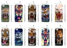Mobile Phone Cases Wholesale 10pcs/lot Angry Tiger Head Protective White Hard Case For Iphone4 4S
