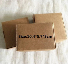 50pcs/lot Kraft Paper Gift Packing 10.4*5.7*3cm Carton Exquisite Box Boutique Boxes Handmade soap Aircraft box