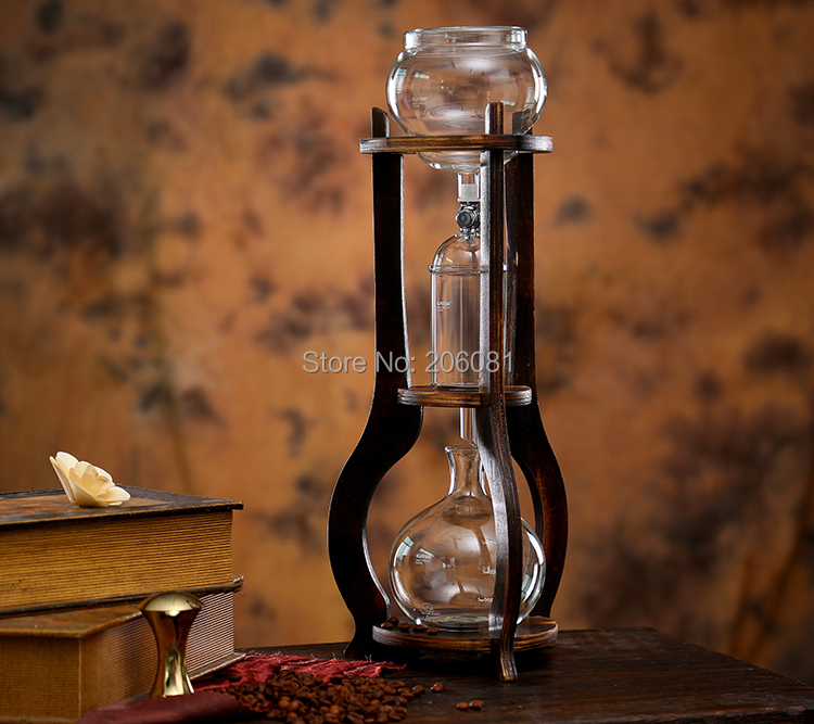 water drip coffee maker/ice drip coffee maker/ice drip colf brewer/Dripper coffee maker 600cc ,wood pillar factory directly sale<br><br>Aliexpress