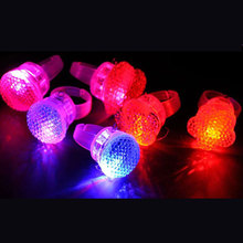 Free shipping 50pcs/lot Jelly Rings Flashing LED Rave Party Favors Blinking Finger Ring Wedding Festive Party Decoration(China)
