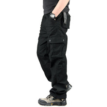 Men's Cargo Pants Casual Mens Pant Multi Pocket Military Overall Men Outdoors High Quality Long Trousers 30-44 Plus size(China)