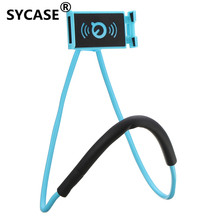 Lazy Bracket Universal 360 Degree Rotation Flexible Phone Selfie Holder Snake-like Neck Bed Mount Anti-skid For iPhone Android(China)