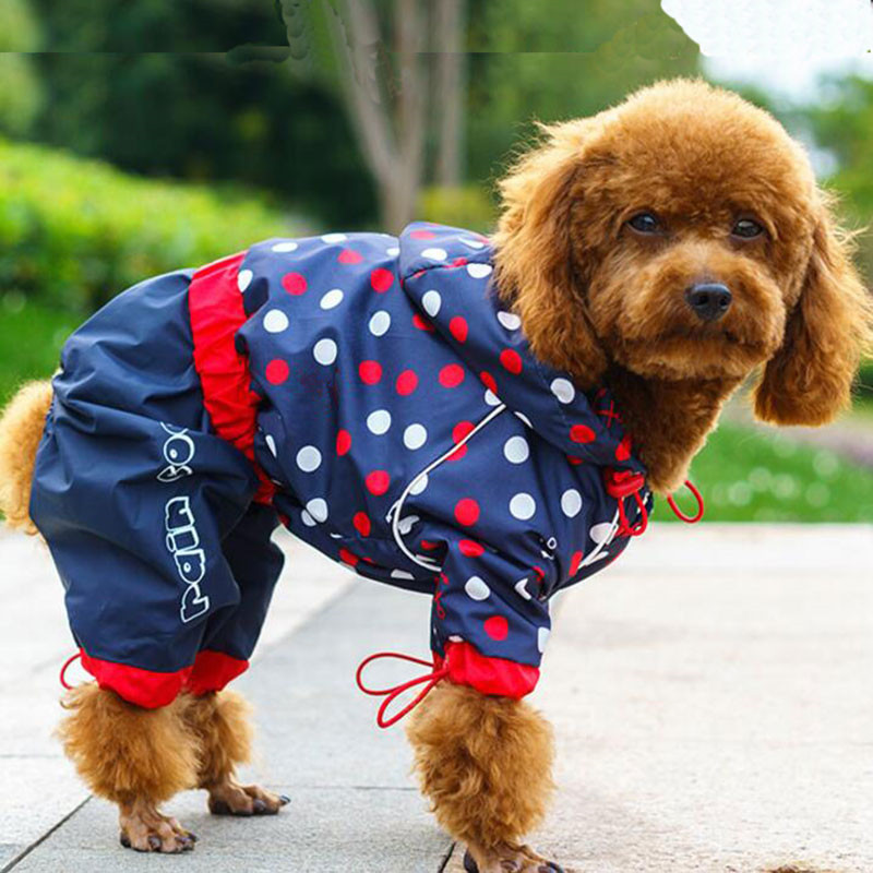 Pet Dog Raincoat for Small Medium Dogs Waterproof Rain Coat Outdoor Clothes Dog Jacket Puppy Teddy Outfits Dog Clothes 6