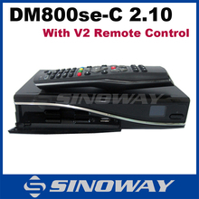 DM800se DVB-C tuner D11 mainboard with V2 remote control 400 MHz processor the DVB 800 HD se enigma 2 linux Cable receiver(China)