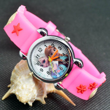 3D Cartoon Lovely Kids Girls Boys Children Students Quartz Wrist Watch Very Popular watches ELSA and ANNA Princess style