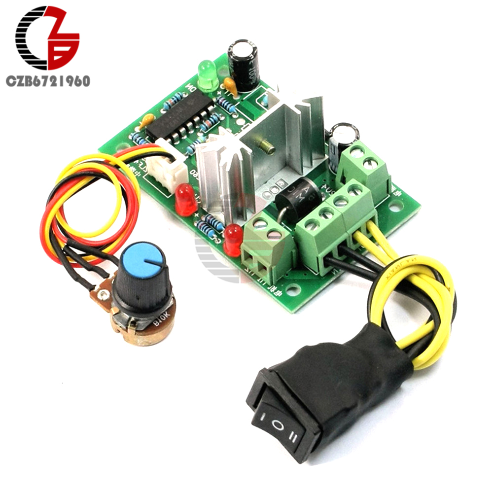 DC 10-36V Motor Speed Controller Reversible PWM Control Forward Reverse switch