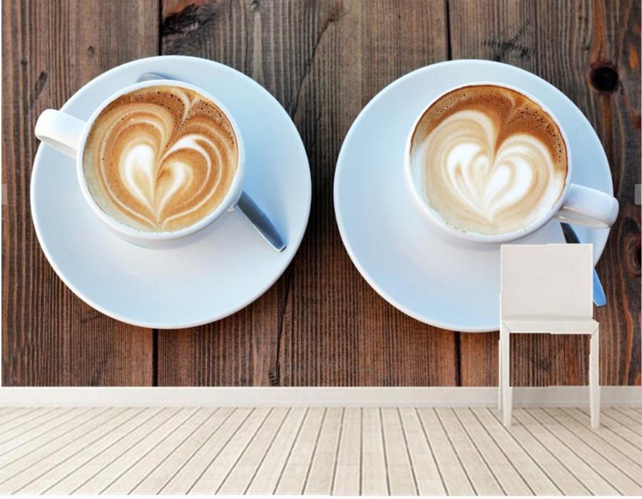 Custom papel de parede,Drinks Coffee Cup Food wallpaper.living room sofa TV wall restaurant kitchen 3d wall murals wallpaper<br>