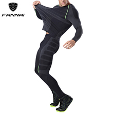 Compression Fit Tracksuit Running Set T-shirt Legging Fitness Tight Tops Muscle Gym Long sleeve Shorts Costumes Men'S Sport Suit