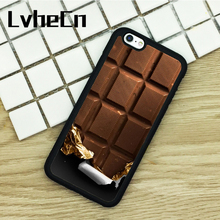 LvheCn TPU Phone Cases For iPhone 6 6S 7 8 Plus X 5 5S 5C SE 4 4S ipod touch 4 5 6 Cover Chocolate Bar Funny Cute(China)