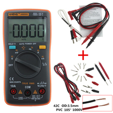 ANENG AN8002 Digital Multimeter 6000 counts Backlight AC/DC Ammeter Voltmeter Ohm Portable Meter orange Crocodile clip test line