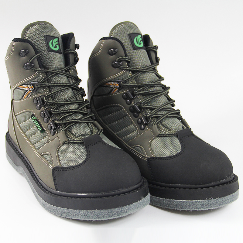 Breathable fishing wading shoes with felt sole, mens fishing boots<br>