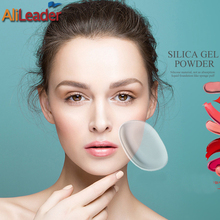Fashion Women Lady Face Foundation Silicone Sponge Cosmetic Puff Powder Make Up Tools Easy Clear Silisponge Beauty Tranparent Pu