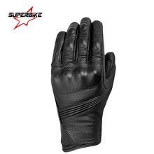 Motorcycle Gloves Touch Screen Men Goatskin Leather Glove Cycling Racing Full Finger Motorbike Moto Bicycle Bike Motocross Luvas