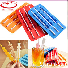 1Pcs Summer Style  Ice Pop Makers Popsicle  Molds Silicone Freezer Ice Cream Maker Mold Cooking Tools