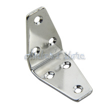 Free Shipping 4pcs/lot  6-Holes Marine Boat Stainless Steel Corner Brace Joint Structural Right Angled Bracket Hinge